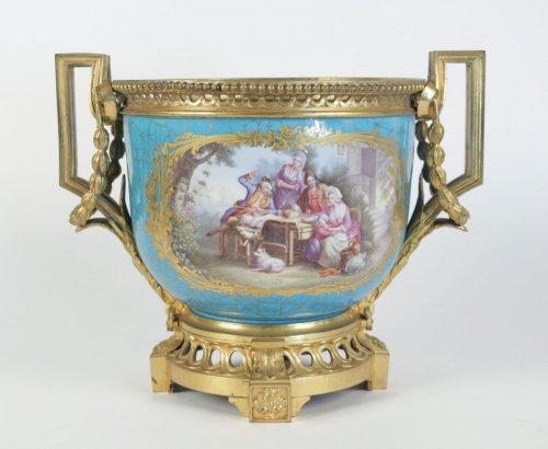 - A Sèvres porcelain Cachepot