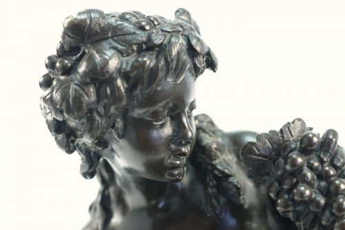 Antiquités - Faun with a young faun and a putto