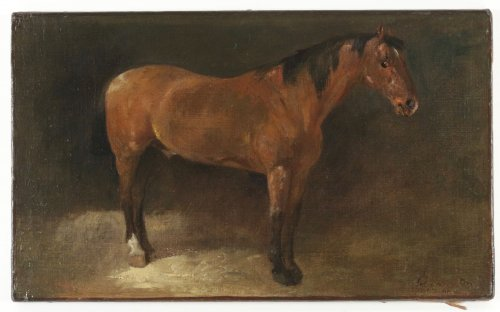 John Lewis Brown (1829-1890) - A Bay Horse