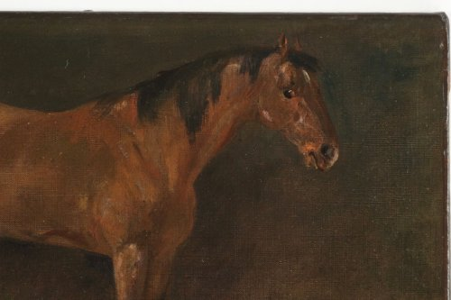 John Lewis Brown (1829-1890) - A Bay Horse - Paintings & Drawings Style
