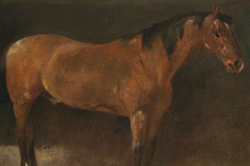 Paintings & Drawings  - John Lewis Brown (1829-1890) - A Bay Horse