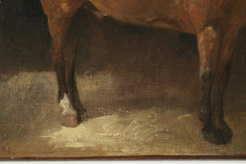 John Lewis Brown (1829-1890) - A Bay Horse -