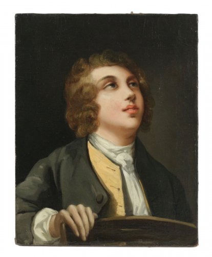 A Portrait of a young man - French school of the late 18th century