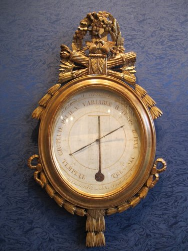 A Louis XVI barometer - thermometer -