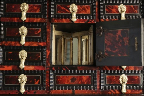 A 17th century Flemish cabinet -
