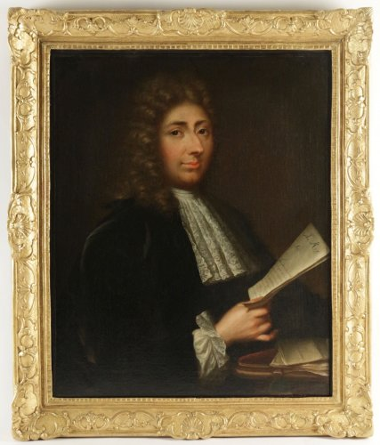 Portrait of a Gentleman holding a letter - French school of the 18th century