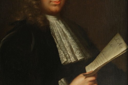 Paintings & Drawings  - Portrait of a Gentleman holding a letter - French school of the 18th century