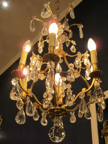 A Chandelier in the Louis XV style.