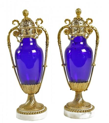 A Pair of Louis XVI cassolettes