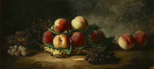 Alfred Arthur de Brunel de Neuville (1852 - 1941) - Still life with peaches - Paintings & Drawings Style