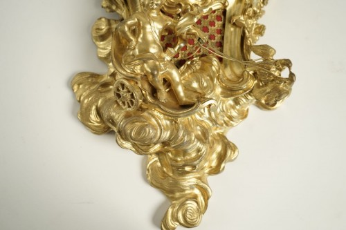 A Louis XV style bracket clock -