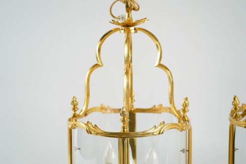 A Pair of Louis XV style lanterns. - Lighting Style