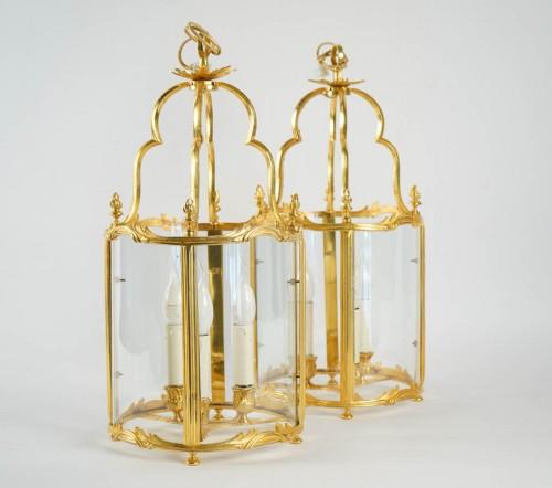 Lighting  - A Pair of Louis XV style lanterns.