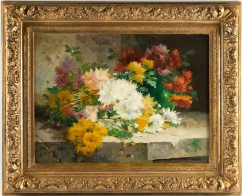 Eugène Henri Cauchois (1850 - 1911) - Chrysanthemums