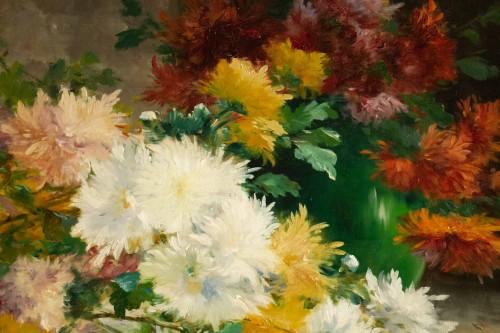 Paintings & Drawings  - Eugène Henri Cauchois (1850 - 1911) - Chrysanthemums