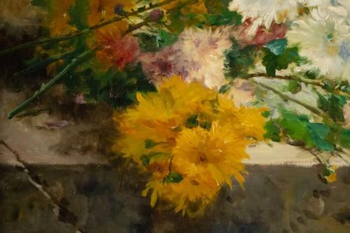19th century - Eugène Henri Cauchois (1850 - 1911) - Chrysanthemums