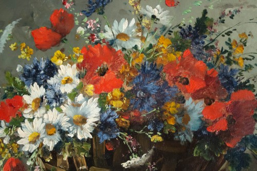 - Emile Godchaux (1860 - 1938) - Poppies and Pansies