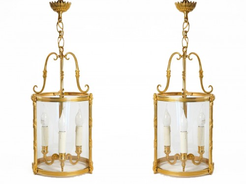 A Louis XVI style pair of lanterns