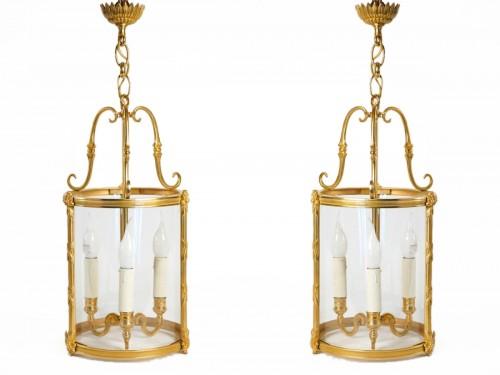 A Louis XVI style pair of lanterns