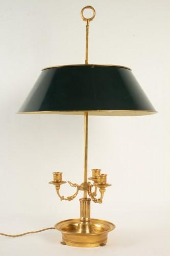 A Directoire style bouillotte lamp.