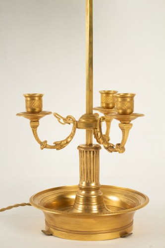 Lighting  - A Directoire style bouillotte lamp.
