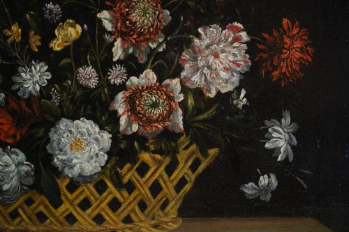 Still Life with the Flowers - Flemish school of the 17th century - Paintings & Drawings Style