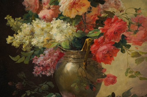 Alfred Godchaux (1835 - 1895) - A Bouquet of flowers - Paintings & Drawings Style