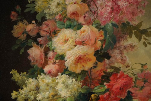 Paintings & Drawings  - Alfred Godchaux (1835 - 1895) - A Bouquet of flowers