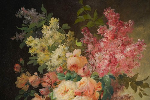 Alfred Godchaux (1835 - 1895) - A Bouquet of flowers -