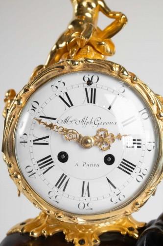 """Bronze Mantel lock """"à l'éléphant"""" - Clocks Style"""