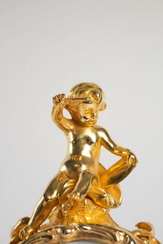 """Bronze Mantel lock """"à l'éléphant"""" -"""