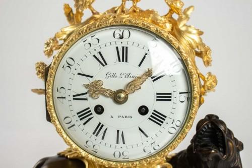 "A bronze clock ""au lion"" - Clocks Style"
