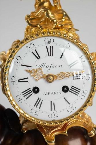 """Clocks  - A gilt bronze clock """"à l'éléphant""""."""