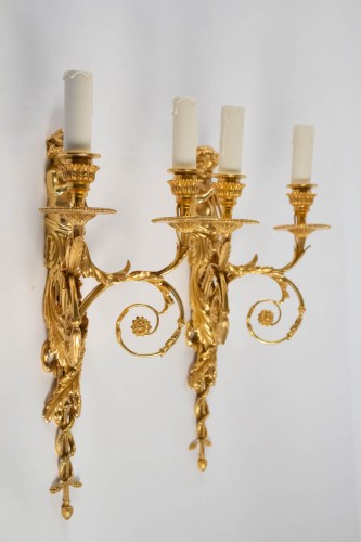 Antiquités - A Pair of wall lights