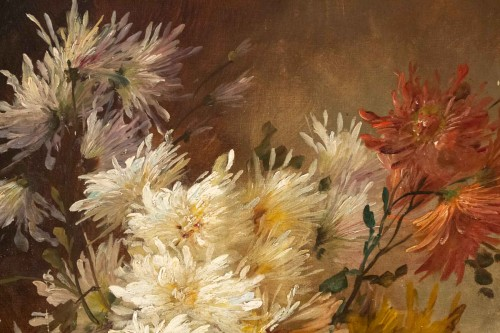 - Alfred Godchaux (1835 - 1895) - Roses and chrysanthenums.