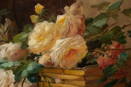 Antiquités - Alfred Godchaux (1835 - 1895) - Roses and chrysanthenums.