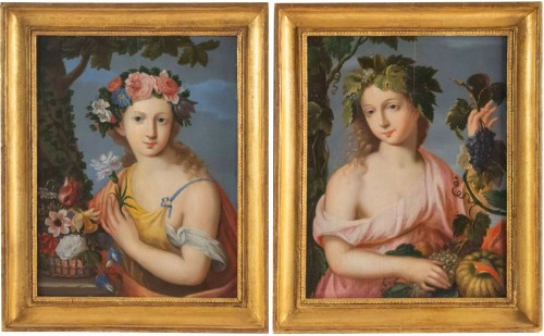 Allegory of Spring and Summer - Flemish school of the 17th century
