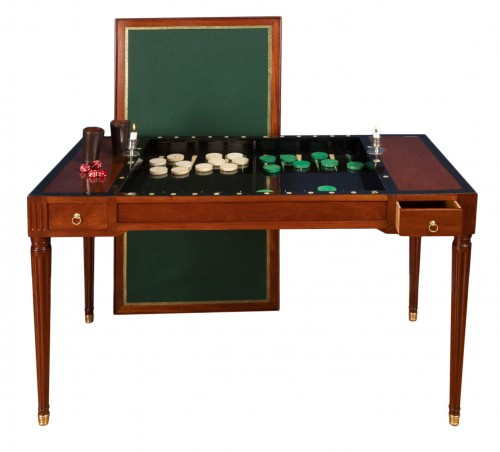 A Louis XVI period  tric-trac game table