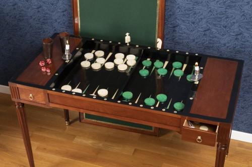 A Louis XVI period  tric-trac game table - Louis XVI