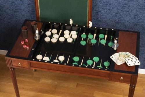 Antiquités - A Louis XVI period  tric-trac game table
