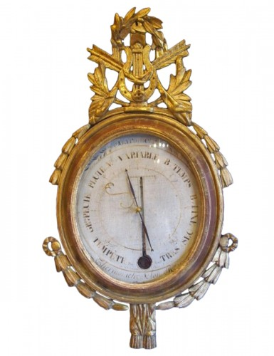 A Louis XVI barometer - thermometer
