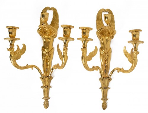 A Pair of 1st Empire period wall lights
