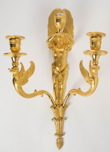 Lighting  - A Pair of 1st Empire period wall lights