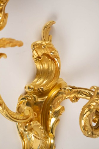 Lighting  - A Pair of Louis XV style wall lights.