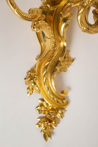 A Pair of Louis XV style wall lights. -