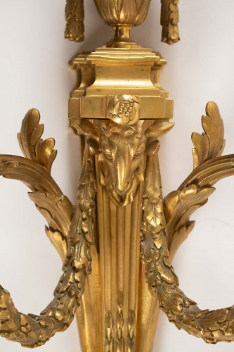 19th century - A Pair of Louis XVI style wall lights