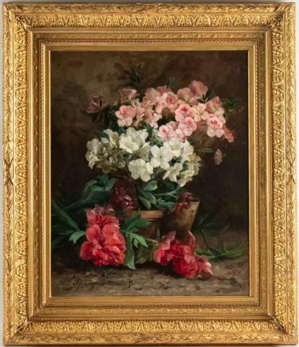 Maurice Isabelle Sprenger-Sébilleau (1849 - 1907): Azaleas and peonies.