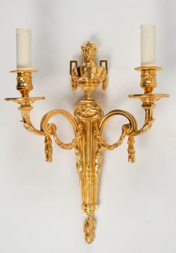 Four Louis XVI style wall-lights .  - Lighting Style