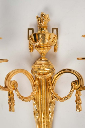 Lighting  - Four Louis XVI style wall-lights .