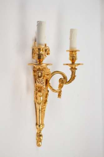19th century - Four Louis XVI style wall-lights .
